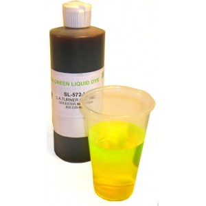 SL-572-L Yellow/Green Liquid Dye-Pint bottle